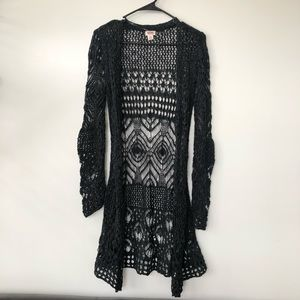 Dark Gray Lace Cardigan by Mossimo